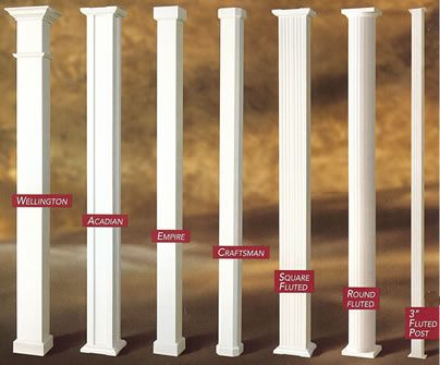 Decorative Porch Columns Patio Covers Pinterest