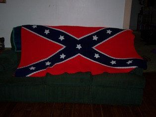 Crochet Patterns Rebel Flag : crocheted confederate flag Rebel yell!! Yee-Haw Pinterest