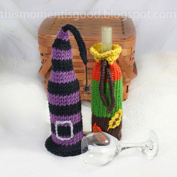 Knitting Pattern Wine Bottle Cover : Wine Bottle Covers, Loom Knitting Pattern! Six Unique Holiday Wine Bo?