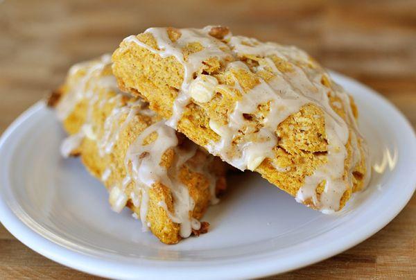 Pumpkin Scones with Ginger Glaze | Recipe