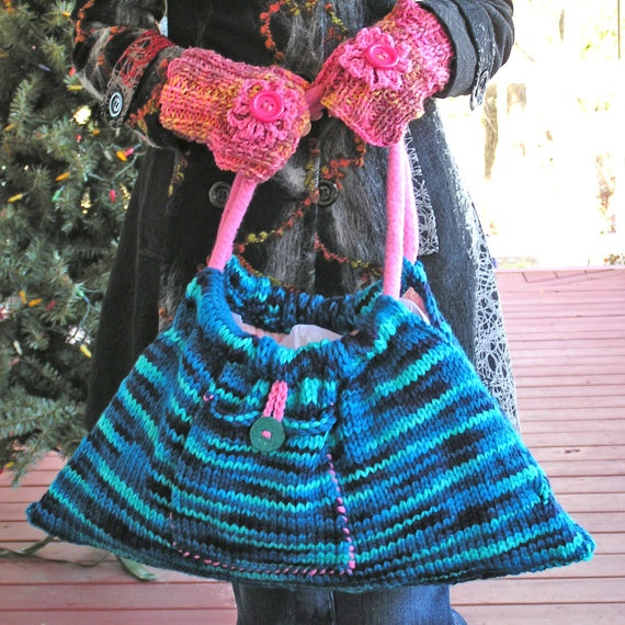 Hobo Bag  Naughty Girl  A Flirty HandKnit by BARBARAPAIGEKNITS, $55.00