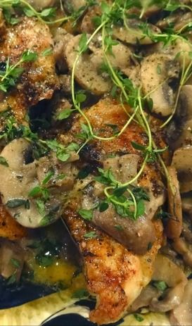 Chicken With Mushrooms, Rice And A Marsala Cream Sauce ...