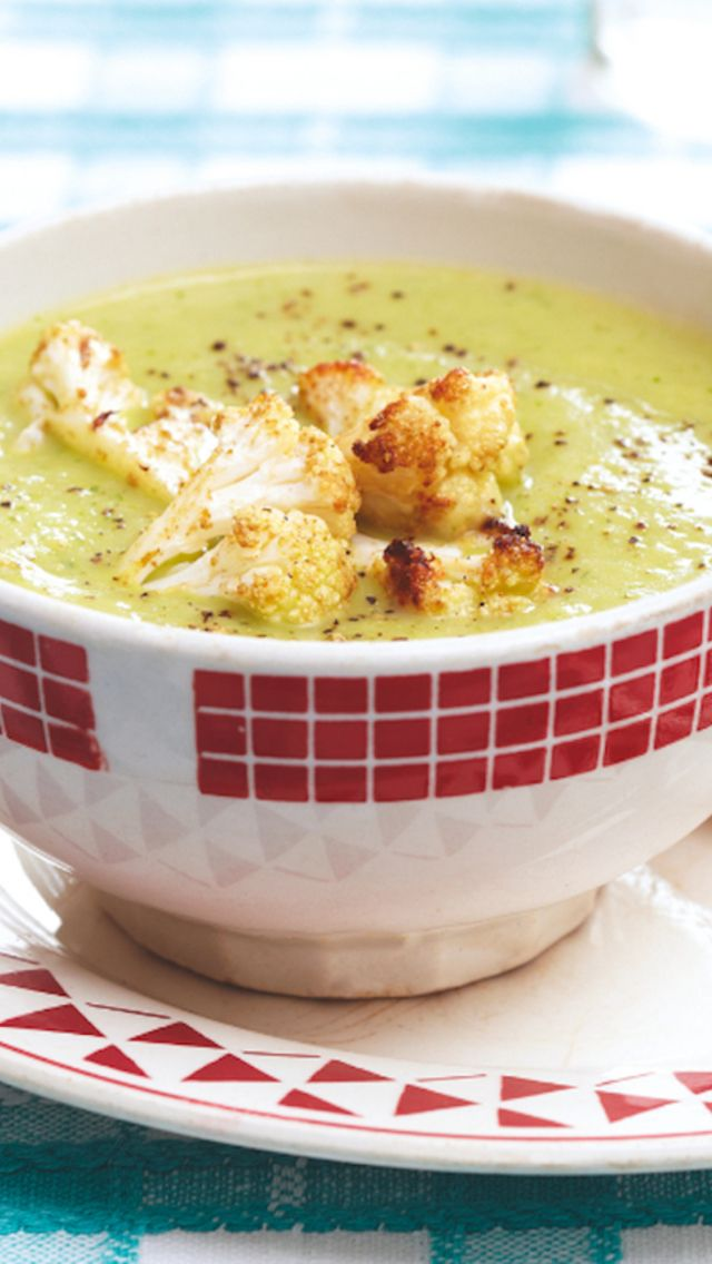 Cauliflower And Arugula Soup Recipe | Healthy food | Pinterest