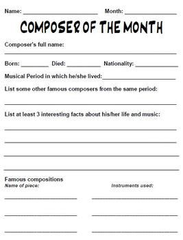 Printables Music Appreciation Worksheets music appreciation worksheets abitlikethis composer of the month worksheet