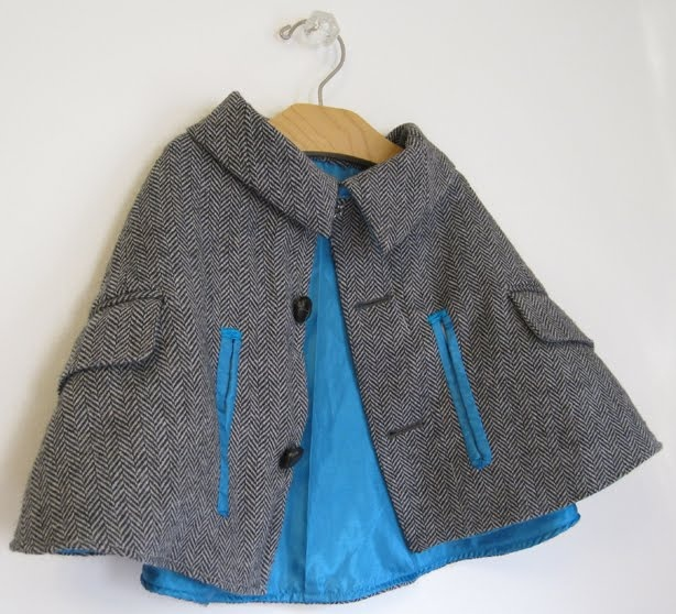 Great British Sewign Bee :: Series 2 Week 6.  a man's suit coat (big one) cut and redesigned into a cape