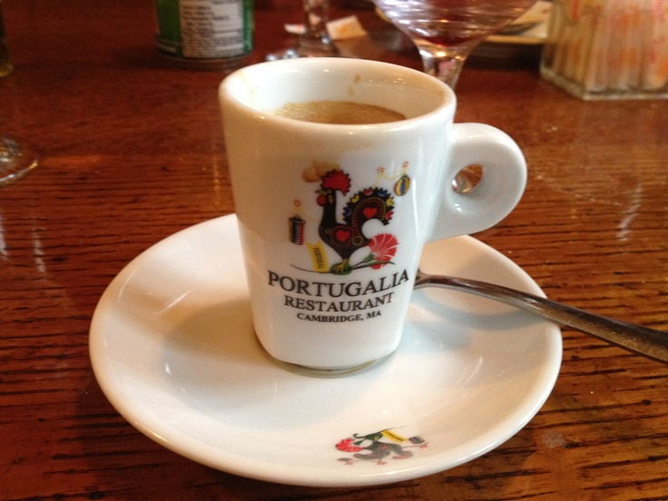 A taste of portuguese coffee.
