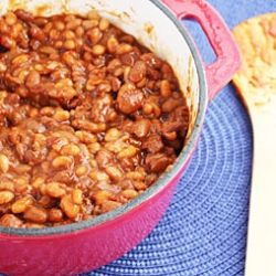 Slow Cooker Vegetarian Baked Beans. | Delicious Food! | Pinterest