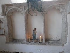 14th century Sedilia in Great Bircham Parish Church, Norfolk.