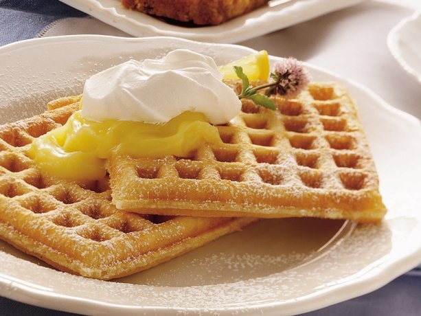Lemon Cream Pie Waffles Love lemon cream pie? Here's a way to enjoy ...