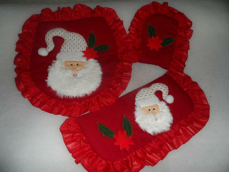 Juego De Baño Navideno A Crochet:Manualidades Juegos De Bano