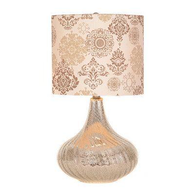 silver mercury twist table lamp living room pinterest
