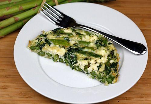 Asparagus, Spinach, and Feta Cheese Frittata Recipe   Two Peas & Their ...