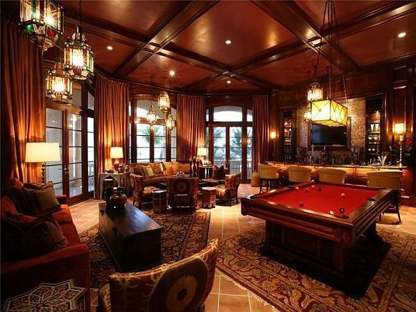 Man Cave Lounge Room : Luxury man cave game room bar new house cigar wine
