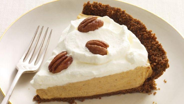 INCREDIBLE Pumpkin Mousse Pie #recipe | Goodtaste Dessert | Pinterest
