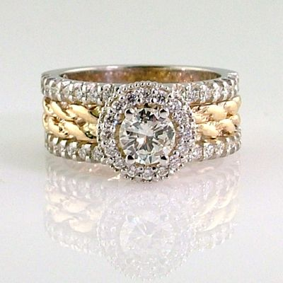 20 Year Wedding Anniversary Rings Gold Rope And Diamond Engagement