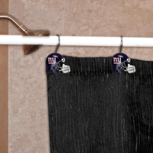 New York Giants 12-Piece Metal Shower Curtain Rings