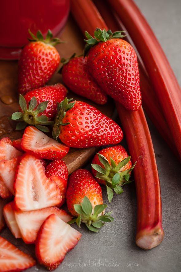 Hibiscus Strawberry Rhubarb Iced Tea | Recipe