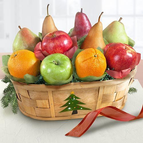 Merry christmas fruit basket pretty fruit basket pinterest