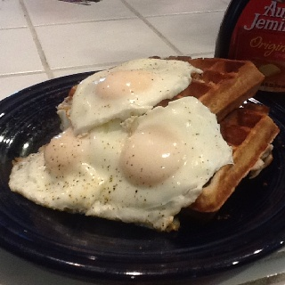 Buck wheat waffles and eggs!! | food | Pinterest