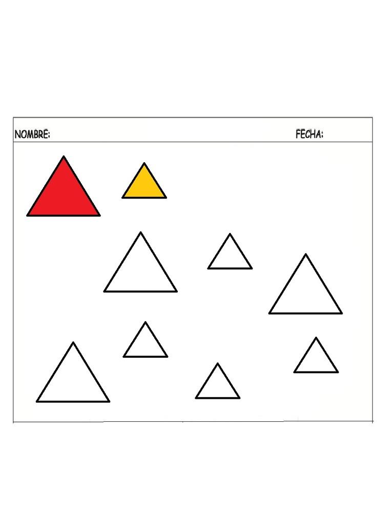 Triangulo grande-pequeño - Dibujos para pintar