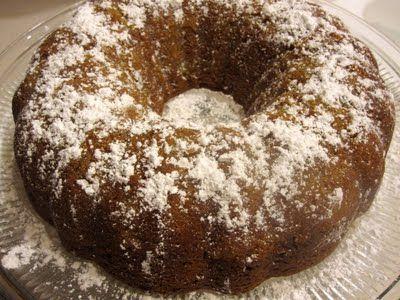 Spiced Pear Sour Cream Bundt Cake