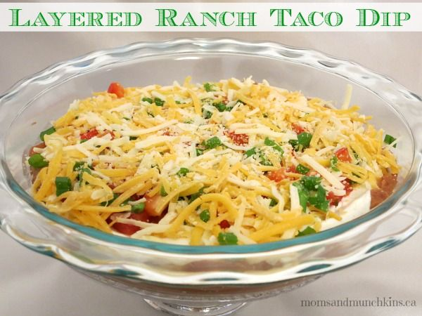 Layered Ranch Taco Dip #Christmas #Appetizer #LMDConnector www ...