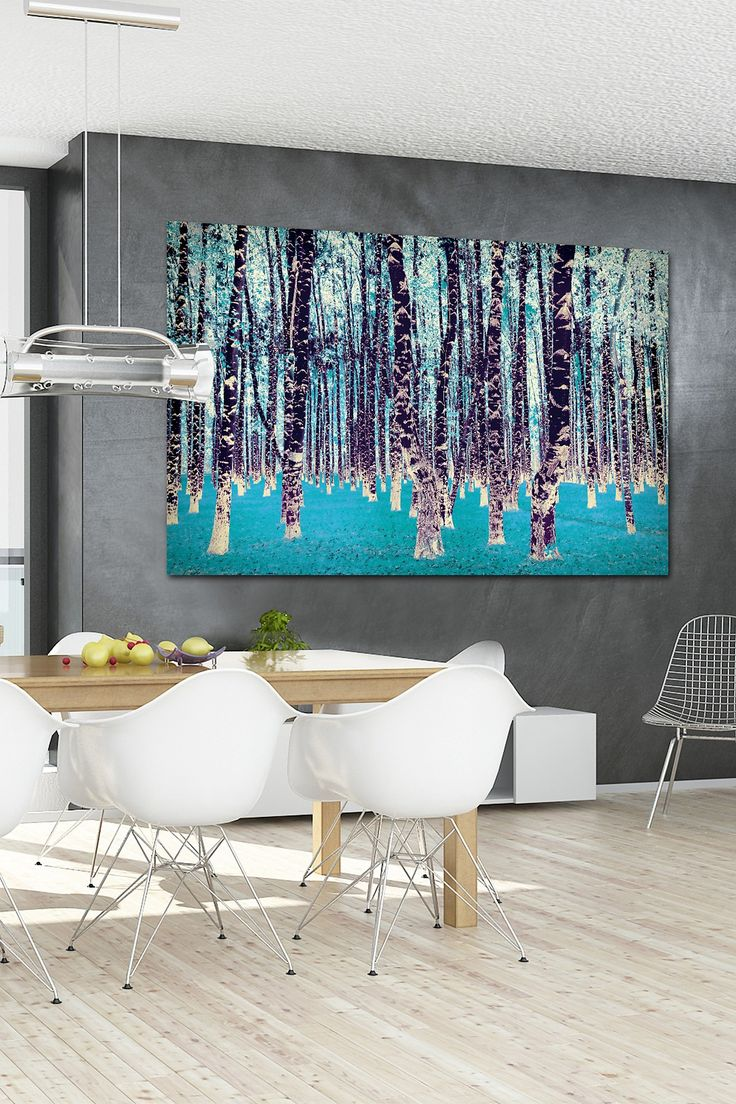 dining room birch art canvas dream houses pinterest