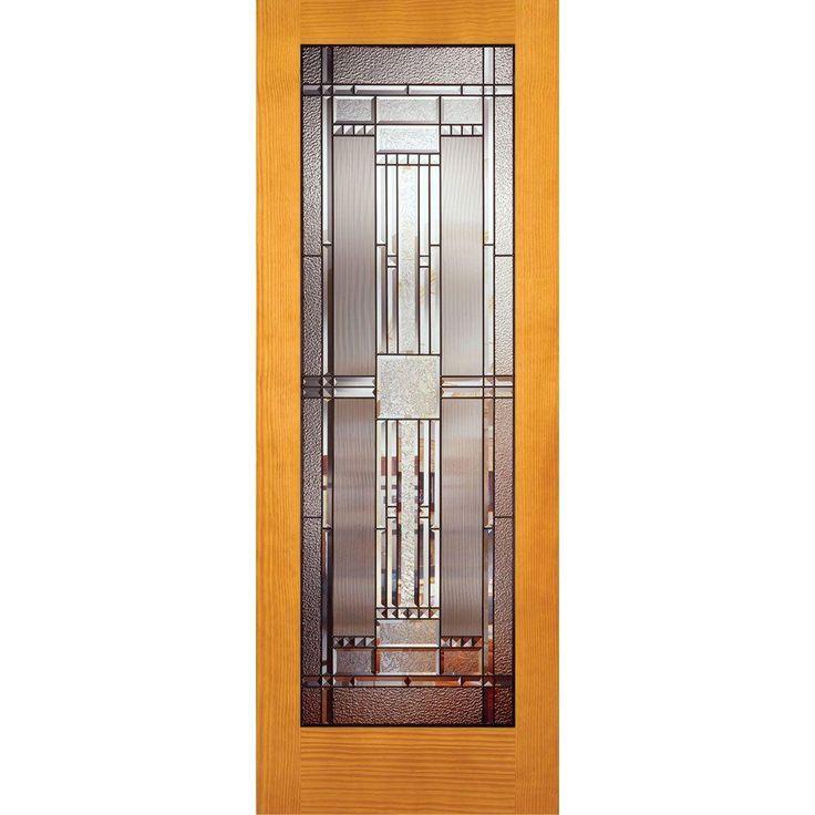 Feather River Doors Door Preston Patina Woodgrain 1 Lite Unfinished