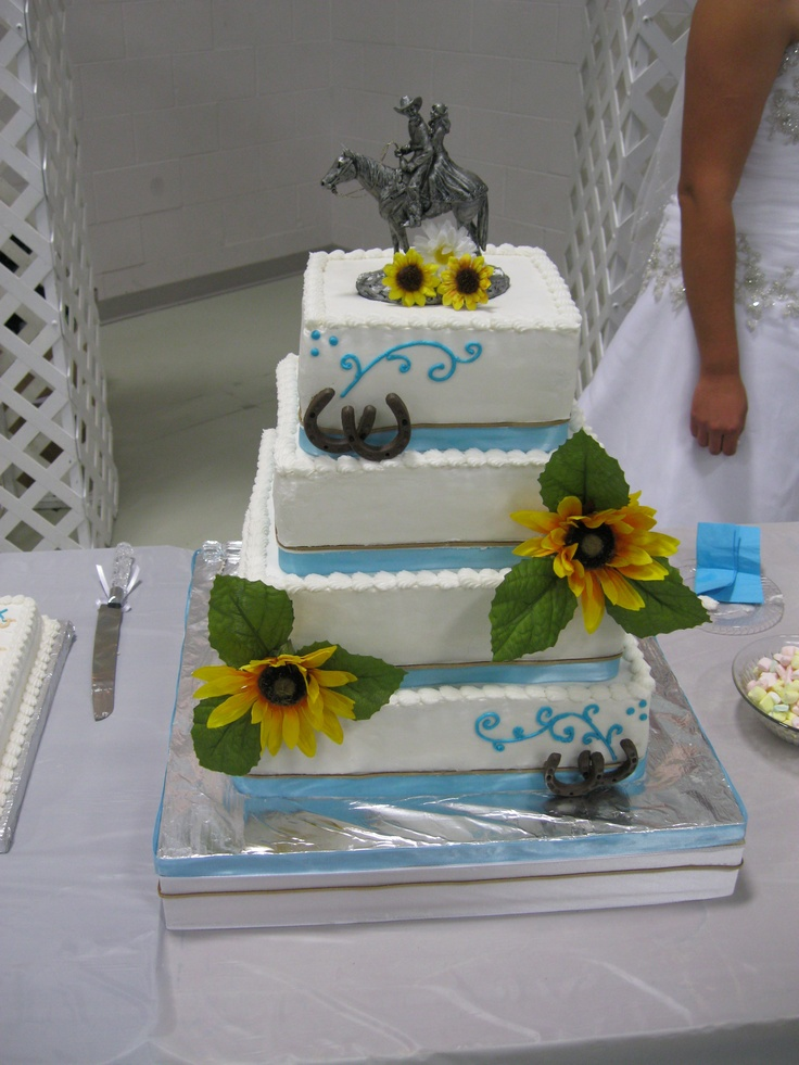 'Happy Trails' Western Wedding Cake