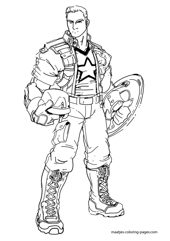 Free Coloring Pages Of Captain America 2