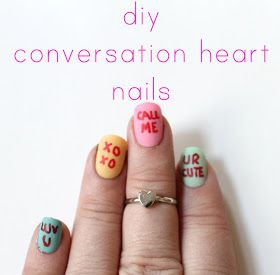Radical possibility diy conversation heart nails
