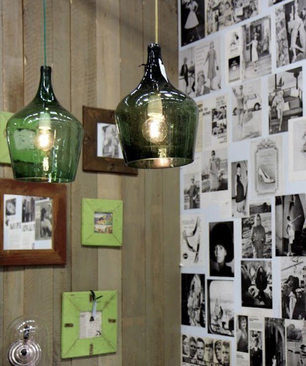 lampadari di vetro : Lampadari di vetro ... ;) Riciclo creativo PALLET!! cassette della ...
