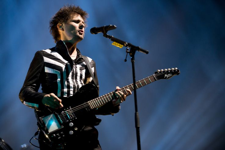 (Molly J. Smith | Special to The Salt Lake Tribune)   Lead singer and guitarist Matthew Bellamy of Muse performs at the Energy Solutions Arena in Salt Lake City on Sept. 20, 2013.