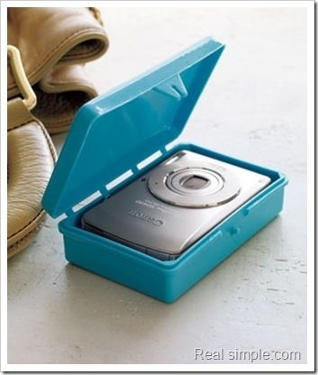 Soap container as camera case