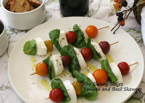 Tomato and Mozzarella Skewers | EATS | Pinterest