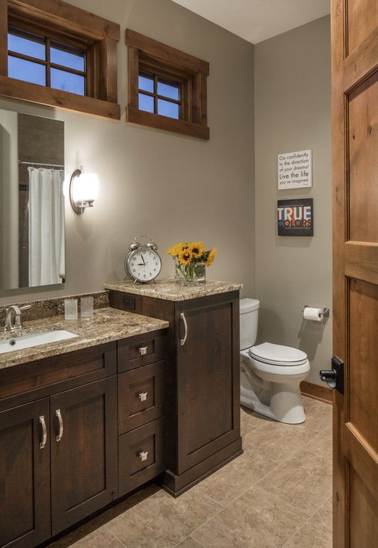 Rustic chic lake house bathroom for the home pinterest - Rustic chic bathroom ...