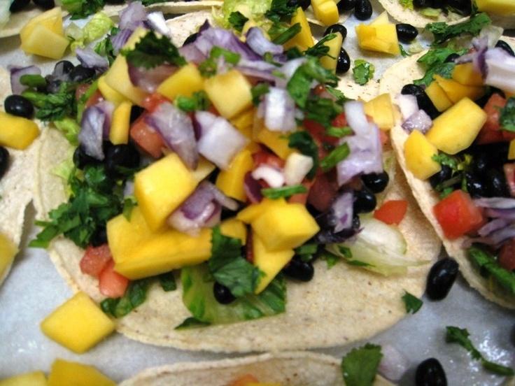 black bean and mango tostadas (vegan)*   things i've made*   Pinterest