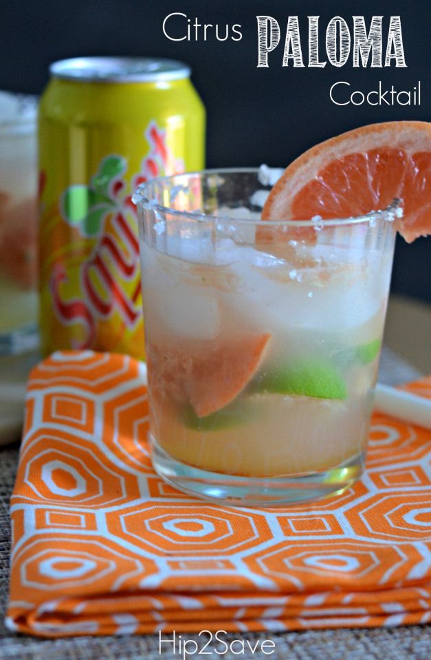 Citrus Paloma Cocktail Hip2Save | Recipes | Pinterest