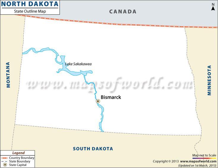 North Dakota Outline Map  Httpwwwmapsofworld