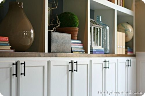 Diy built ins cabinets as bases awesome diy and home for Building kitchen cabinets on site