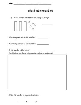1st Grade Common Core Homework Add-On Pack - Second Story Window