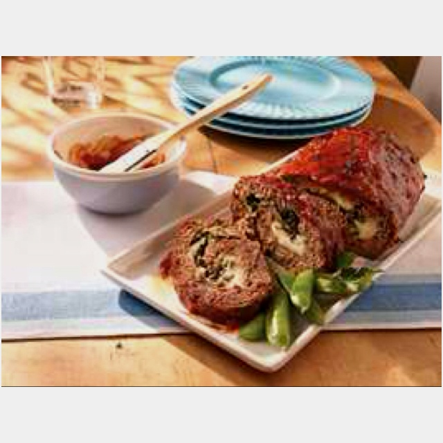 Rolled Italian Meatloaf . | Food/Recipes | Pinterest