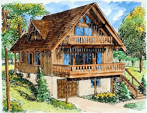 A Frame House Plan 57391