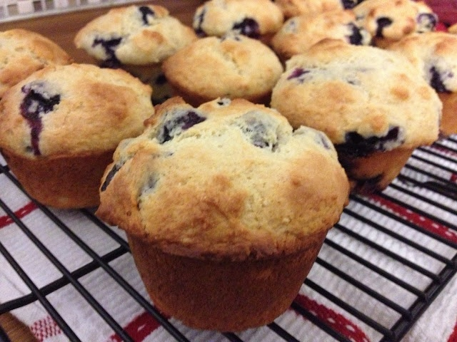The Baking Yogi: Kitchen Adventures; Big Beautiful Blueberry Muffins