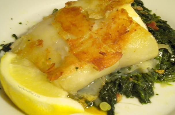 Potato crusted halibut. Saw Ann Burell make this on her show and must ...