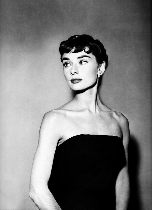 """1953: Audrey Hepburn Sabrina hair and makeup test. """"God kissed her on the cheek,"""" Billy Wilder once said, """"and there she was."""""""