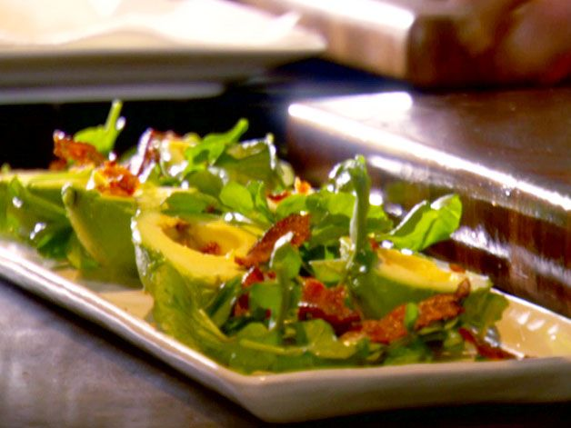 Avocado Salad with Lemon, Bacon and Watercress Recipe : Tyler Florence ...