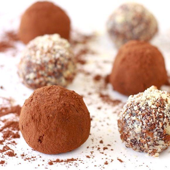 Rum & Raisin Dark Chocolate Truffles | For the Love of Food | Pintere ...