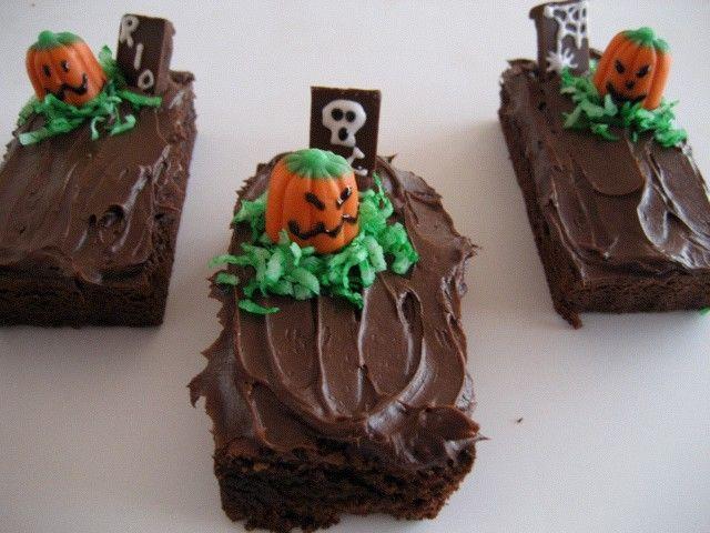 Halloween Tombstone Brownies | Bandi's Candi's | Pinterest