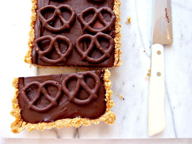 rich chocolate pretzel tart | pies and tarts | Pinterest